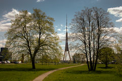 Riga Fernsehturm Stockbild