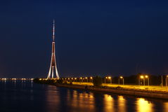 Riga Fernsehturm. Stockfotografie