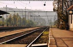 Riga ferroviaria Fotografie Stock
