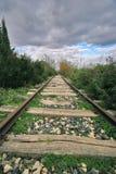 Riga ferroviaria abbandonata Immagine Stock