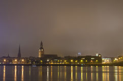 Riga before the firework Royalty Free Stock Images