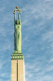 Riga Freedom Monument Stock Photos