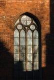 Riga gamla stadsreflexioner i fönster Royaltyfria Foton