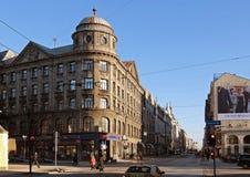 Riga gataKryshyana baron, historicism Arkivbild