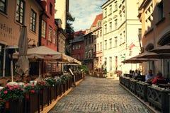 Riga gator Arkivbild