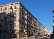 Riga genomskärning Kryshyana Barona och Blaumanja, eklekticism Arkivfoton