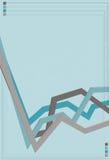 Riga geometrica blu priorità bassa Immagini Stock