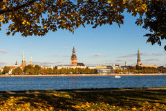 Riga while golden fall Stock Photography