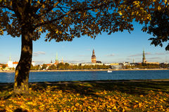 Riga while golden fall Royalty Free Stock Image