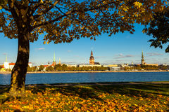 Riga while golden fall Royalty Free Stock Images