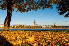 Riga while golden fall Stock Images