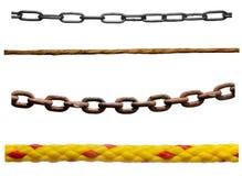 Riga gruppo della corda Immagine Stock