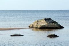 Riga Gulf Coast nära Saulkrasti latvia Arkivbilder
