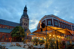 Riga-Hauben-Kathedrale Stockfoto