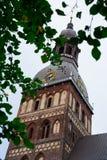 Riga-Hauben-Kathedralen-Turm Rigas Doms Stockbilder