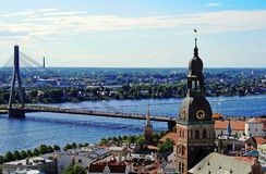 Riga from the height of bird flight Royalty Free Stock Images