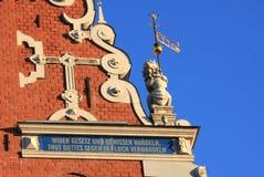 Riga - House of the Black Heads Royalty Free Stock Photo