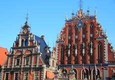 Riga, Huis van Meeëters stock foto's