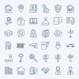 Riga icone del bene immobile illustrazione vettoriale