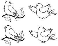 Riga illustrazione 2 dell'uccello di arte illustrazione vettoriale