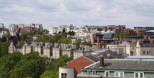 Riga Inghilterra Regno Unito del cielo di Nottingham Fotografia Stock Libera da Diritti