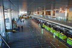 Riga international Airport. Latvia Riga international Airport, departure hall Stock Photography