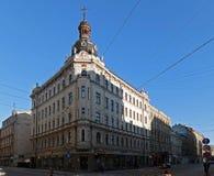 Riga, intersection Kryshyana Barona et Dzirnavu, nouveau image libre de droits