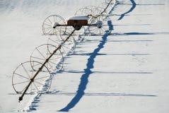 Riga irrigazione della rotella Fotografie Stock Libere da Diritti