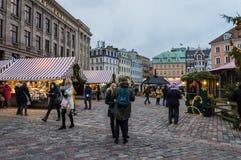 Riga jul marknadsför 2018 royaltyfria foton