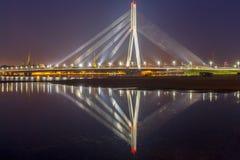 riga Kabel-bliven bro arkivbild