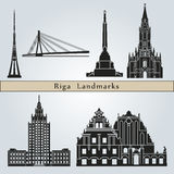 Riga Landmarks Royalty Free Stock Photo