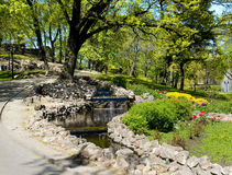 Riga. Landscaping on a bastionny hill. Royalty Free Stock Photo