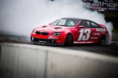 Drift car in motion on the HGK Drift Challenge 2018 Stock Photography