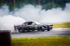 Drift car in motion on the HGK Drift Challenge 2018 Stock Photos
