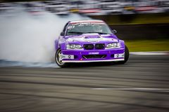 Drift car in motion on the HGK Drift Challenge 2018 Royalty Free Stock Photos