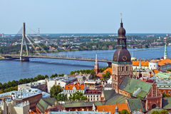 Riga, Latvia. The panorama view of Riga, Latvia royalty free stock images
