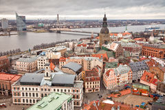 Riga. Latvia. Top view of the center of Riga. Latvia Stock Images