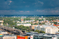 Riga, Latvia. Aerial Cityscape In Sunny Summer Day. Top View Of Royalty Free Stock Images