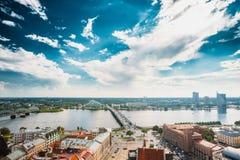 Riga, Latvia. Akmens Tilts - Stone Bridge Street In Summer Day. Royalty Free Stock Image