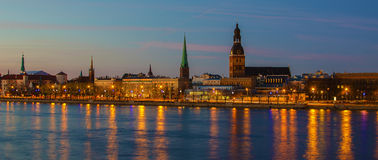Free Riga (Latvia)  At Night Royalty Free Stock Image - 39279786
