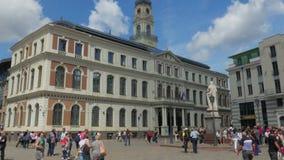 RIGA - LATVIA, AUGUST 2015: city hall view, timelapse stock footage