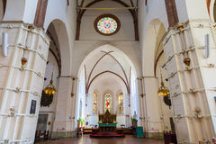 Riga, Latvia - 25-August-2015: interior of Riga Cathedral. Royalty Free Stock Image