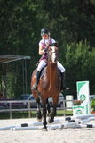 RIGA, LATVIA - AUGUST 12: Latvian rider Tija Alīse Jurjāne sho Stock Photography