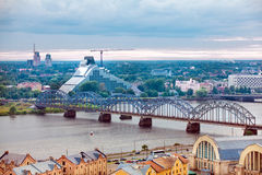 Riga, Latvia, cityscape from Academy of Sciences Stock Image