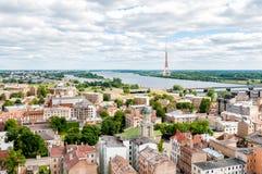 Riga, Latvia, cityscape from Academy of Sciences Royalty Free Stock Image