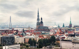 Riga, Latvia cityscape Stock Photos