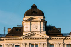 Riga, Latvia. Close Up Facade Of Building Of Riga Regional Court Royalty Free Stock Photo