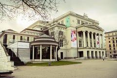 Riga, Latvia Costruzione nazionale lettone di opera Immagini Stock Libere da Diritti