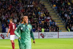 Portuguese football player, celebrity Cristiano Ronaldo. royalty free stock images