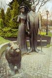 Riga, Latvia Estatua de George y de Cecile Armitstead Foto de archivo libre de regalías